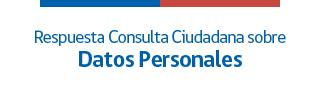 Consulta sobre datos personales