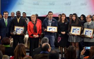 El Ministro de Economía, Fomento y Turismo, Luis Felipe Céspedes participa en la ceremonia de reconocimiento para los voluntarios que participaron del Censo 2017.