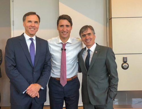 Ministro Valente cierra exitosa gira por Canadá con encuentro junto a Primer Ministro Justin Trudeau