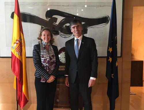Ministro Valente se reúne con su homóloga de España como parte de su gira por Europa