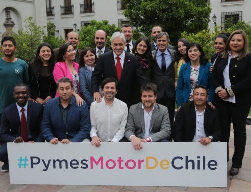 Presidente Piñera recibe la Selección Nacional de Pymes en La Moneda