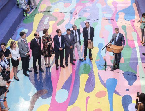 Ministros Valente y Hutt inauguran segunda etapa de Paseo Bandera