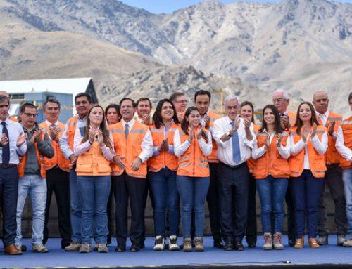 Presidente Piñera encabeza inicio de las obras de ampliación de minera Los Pelambres
