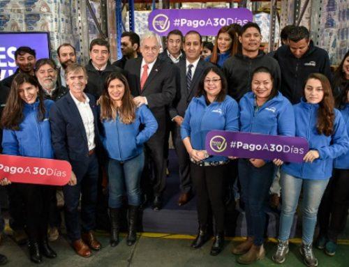 Presidente Piñera y Ministro Valente destacan puesta de marcha de Ley de Pago de 30 Días