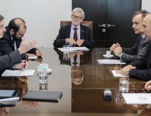 Ministro Fontaine se reúne con representantes de la Cámara Nacional de Comercio